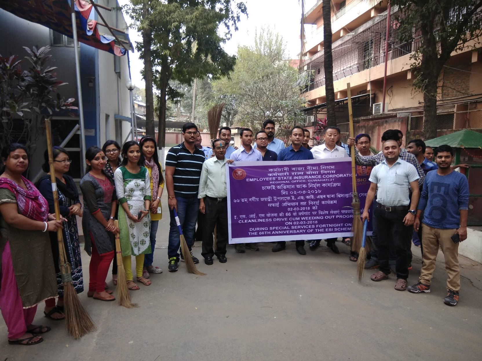 Cleanliness drive cum Weeding out Programme on 02-03-2018