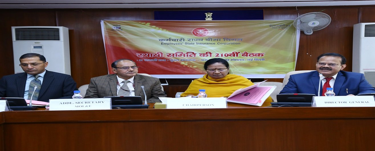 210th meeting of Standing Committee of ESIC