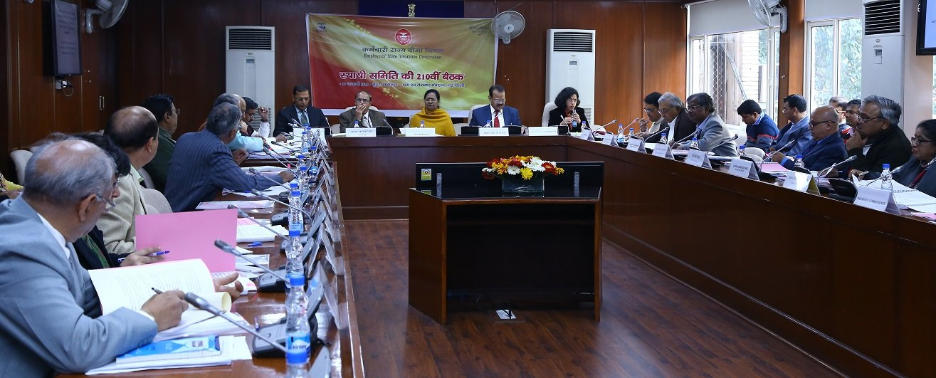 210th meeting of Standing Committee of ESIC.