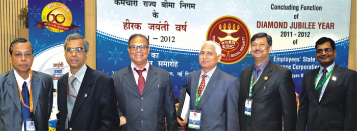 ESIC Officers in a elated mood during the function.