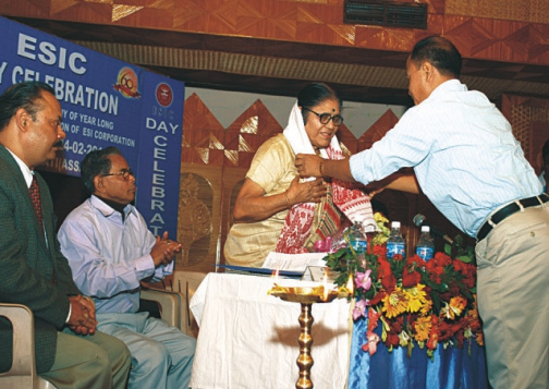 Smt Renuka Devi Barkataki was felicitated during the event.