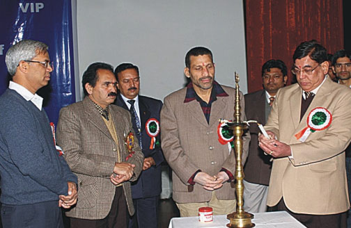 Lighting up of Panchdeep during Diamond Jubilee Year Concluding Ceremony at Jammu (J & K).