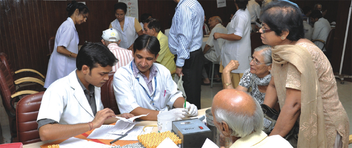 ESIC Pensioners availing healthcare service.