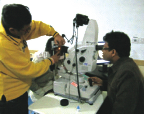 Topcon Fundus Fluorescein Angiography Machine for diagnosis of retinal and macular diseases at ESIC Model Hospital, Noida.