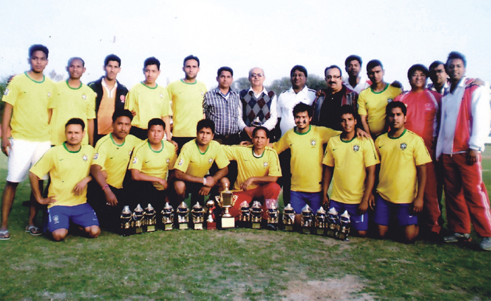 A group photo of ESIC Football team.