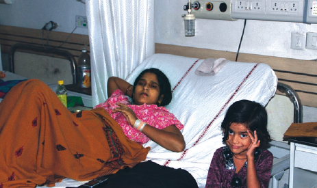 ESI Beneficiary being treated in an ESIC Hospital.
