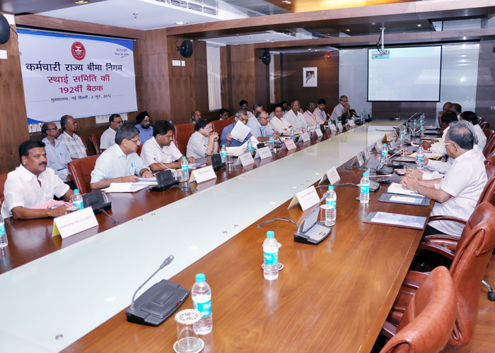 Full view of Standing Committee of ESIC.