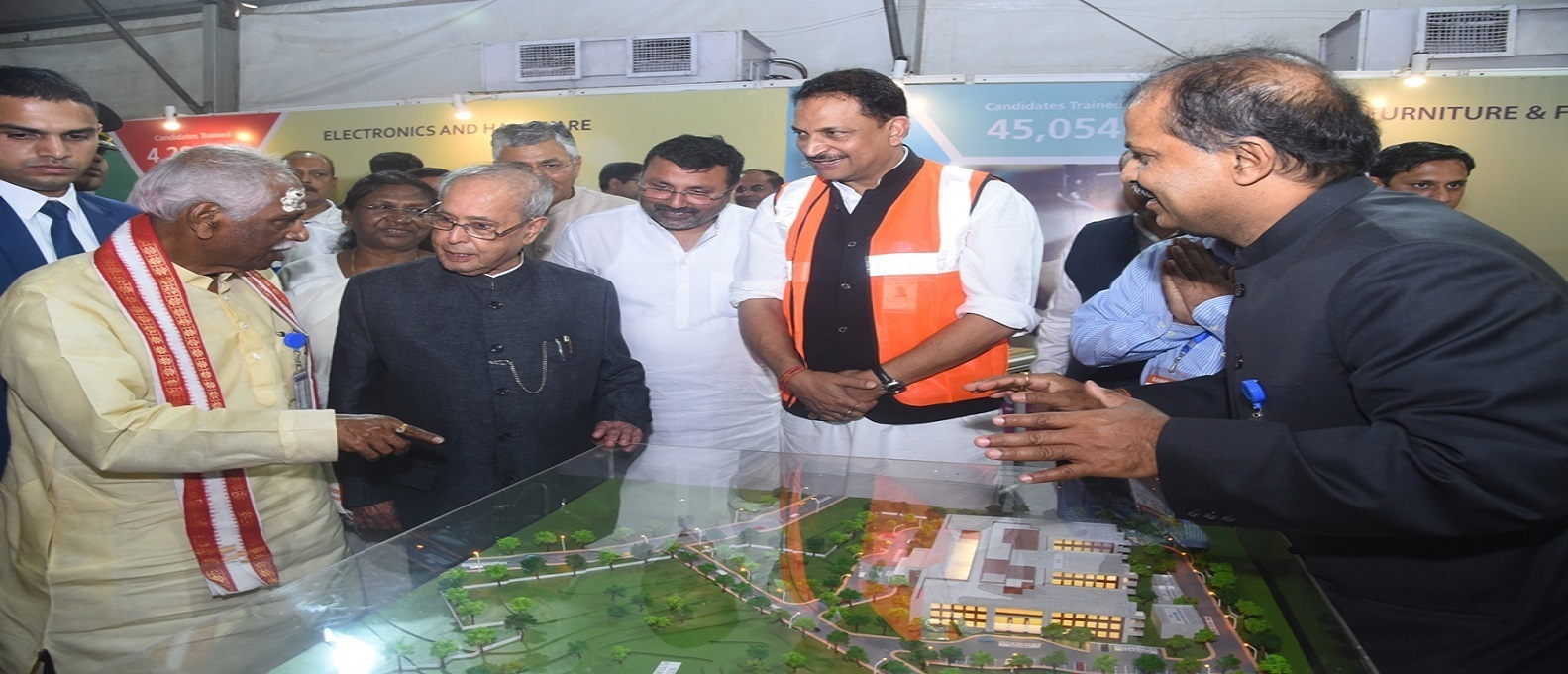 Honble President on 02.04.2017 Taking View of Model of Proposed ESI Hospital to be Constructed at Karon, Deoghar, Jharkhand