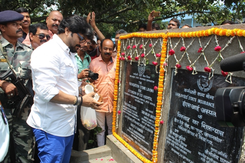 Foundation Stone laid for Extension of ESI Hospital, Asansol, West Bengal