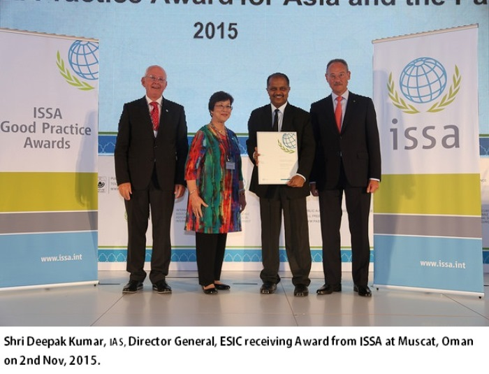 ESIC  won ISSA Good Practice Award